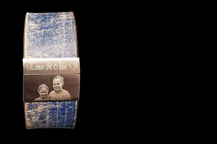 Armband met foto laser graveren