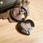 sleutelhanger met foto hart