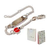 zilveren armband lieveheersbeestje Lilly