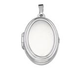 zilveren medaillon ovaal voor vier foto's