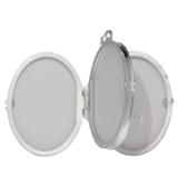 Zilveren Medaillon Ovaal voor 4 foto's_