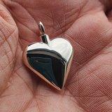 Zilveren ashanger hart 19mm