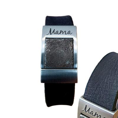 Armband met vingerafdruk Zwart Vintage
