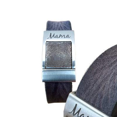 Armband met vingerafdruk Grijs Vintage