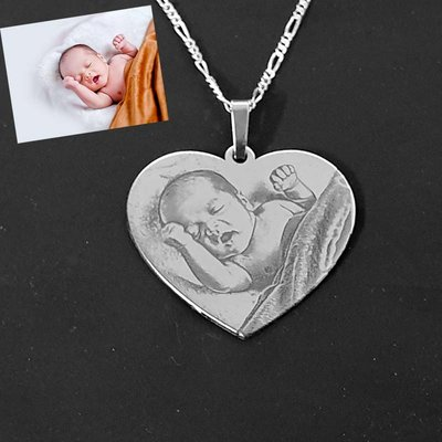 Zilveren fotohanger Hart
