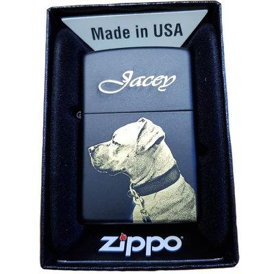 Zippo Black matt met foto