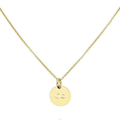 Gouden infinity ketting 42 cm + 5 cm