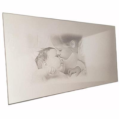 Spiegel met foto 30x15 cm