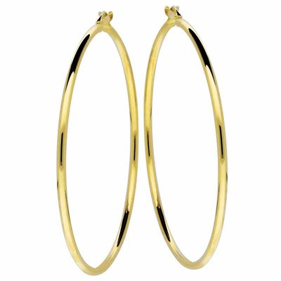 Gouden oorringen 54mm