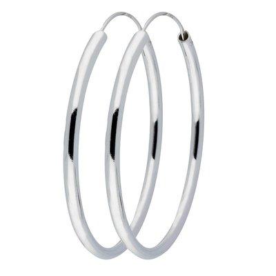 Zilveren oorringen 60 mm