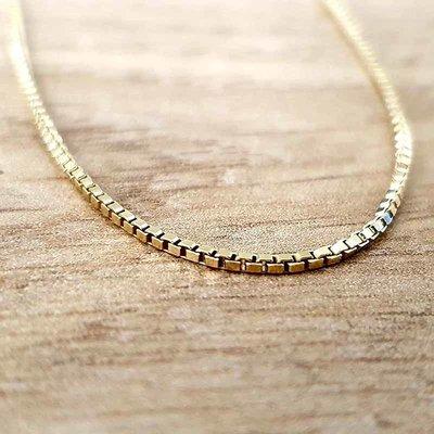 Gouden ketting Venetiaans 60 cm