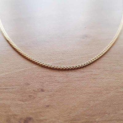 Gouden Gourmet ketting 45 cm- 1,10mm