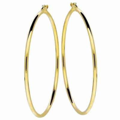 Gouden oorringen van 44 mm