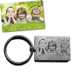 sleutelhanger met foto rechthoek