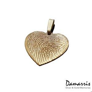 Vingerafdruk sieraad gouden hart