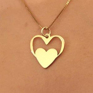 Gouden Hanger Hart met Naam