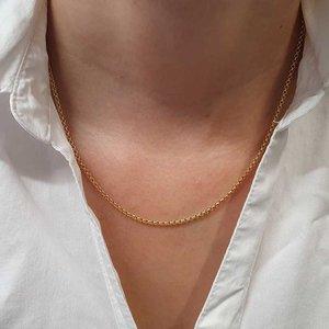 gouden jasseron collier 45 cm