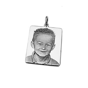 zilveren fotohanger rechthoek
