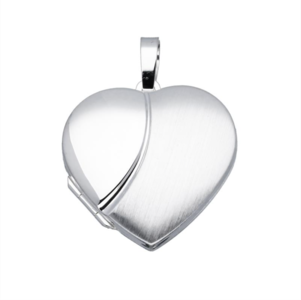 zilveren medaillon hart