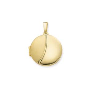 14k gouden medaillon rond 21,5x21,5 mm