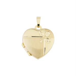 gouden medaillon hart 18x24mm