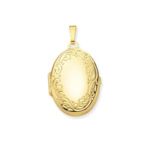 gouden medaillon ovaal voor 4 foto's