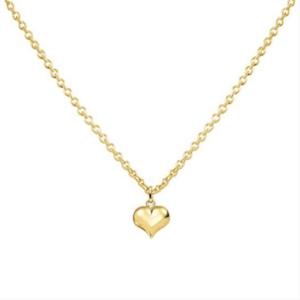 gouden collier met hart 11x13 mm
