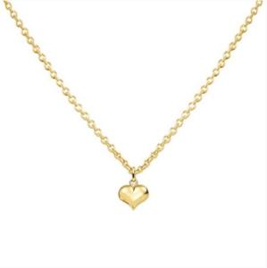 gouden collier met hartje 8x10 mm