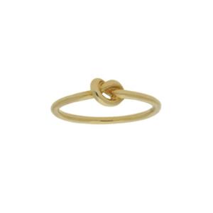 14K gouden ring Knoop