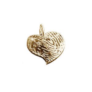 gouden hartje met vingerafdruk