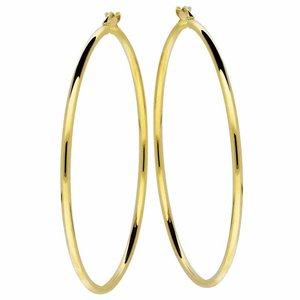 Gouden oorringen 54 mm