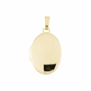 Gouden medaillon Ovaal met foto gravure