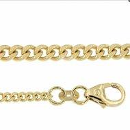 Gouden gourmet ketting 50 cm
